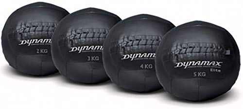 Dynamax Elite Medizinball 2 kg Maximum Quality Official Crossfit Wall Ball Fitness Ball Gewichtsball Trainingsball mit griffiger Oberfläche incl Workout Poster und Training App