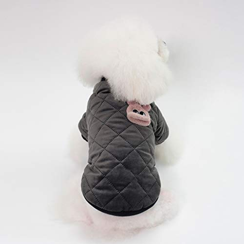WALNUTA Plaid Dog Cats Coat Hoodie Pet Puppy Jacket Winter Warm Outfit Clothes Winter Cotton (Size : Xxl code)