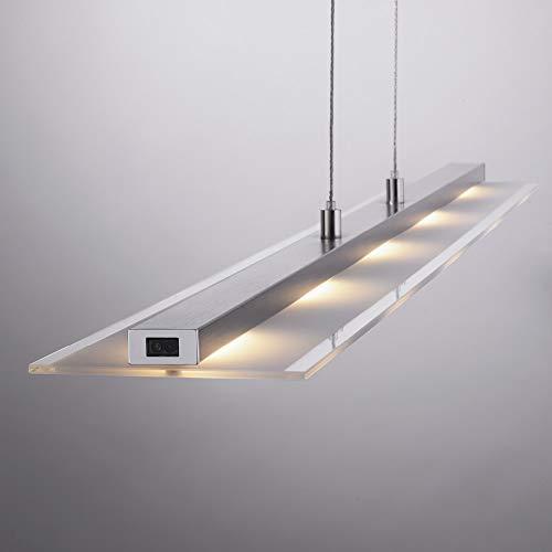 LED Pendelleuchte dimmbar, 160x100cm | Moderne Hängeleuchte mit Farbtemperatursteuerung über Sensordimmer | Pendellampe höhenverstellbar für Wohnzimmer, Küche und Esszimmer