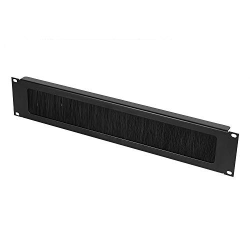Infitronic INRB112BRUSH – 19 Zoll Stahl U-Rackblende//Kabeldurchführung/Blindblende/Blindplatte mit Bürstenleiste (2 HE)
