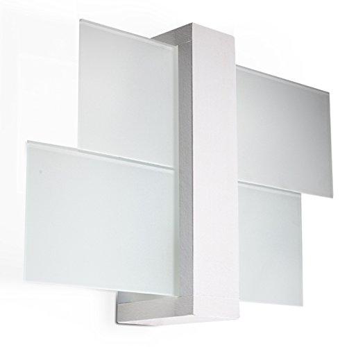 Sollux Lighting Lámpara de pared moderna para salón y vestíbulo de cristal y madera Sollux Feniks 1 SL.0079, cuadrada, moderna, 1 bombilla. LED E-27 LeuchtTEN-Bei Amazon por el mejor precio