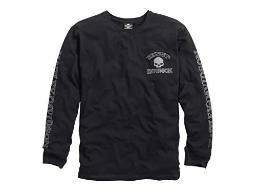 Harley Davidson Langarm-Shirt Skull Black, 3XL