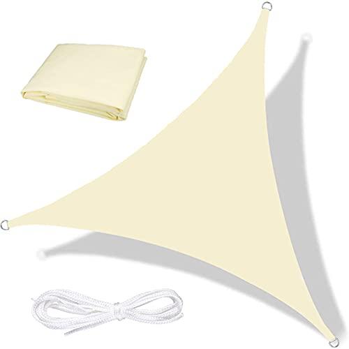 Moboo Toldo parasol para balcón, protección contra la intemperie, impermeable, resistente al viento, PES 420D, 96 % protección UV para jardín, exterior, cuadrado, rectangular, color blanco crema...