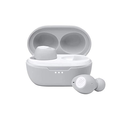 JBL Tune 115 TWS True-Wireless In-Ear-Kopfhörer in Weiß – Klangvoller Bass Sound ohne Kabel – Musik Streaming bis zu 21 Stunden