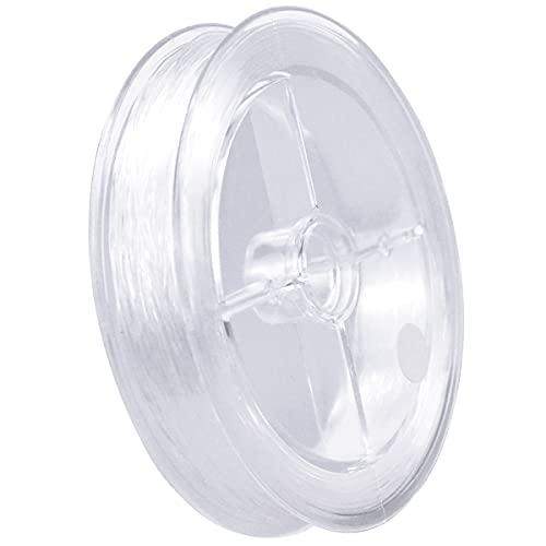 0.5mm Hilo Elástico Transparente para Pulsera, Hilo de Cuentas, Cuerda Invisible de Pulsera Poliéster, Alambre Cristal para Abalorios, Claro Joyería Cuerda para Collares Colgar Decoraciones, 100m