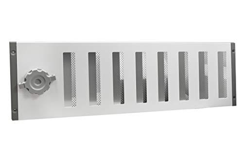 Lüftungsgitter LG 5015 SW Schiebegitter Weiss pulverbeschichtet 500 x 150 mm Abluftgitter