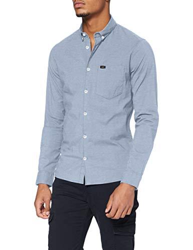 Lee Slim Button Down Shirt, Sterling Blue, M para Hombre