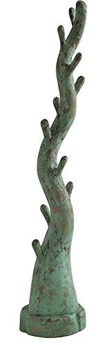 Teakholz Garderobenständer, grün Teak Holz Garderobe