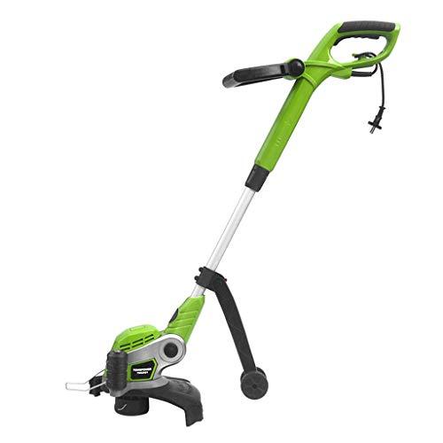 Elektrischer Rasenmäher/Strohseil Rasentrimmer/Einziehbares 700w Strohseil Weeder / 11000 Geschwindigkeit, grün (Farbe : Grün, größe : 700w)