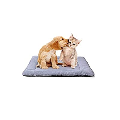 PETSGO Super Soft Warm Crate Mats(1 in High) Dog & Cat Beds for Crates-?Not Suit Chewer Machine Wash & Dryer Friendly-Anti-Slip Pet Beds for Pets Sleeping