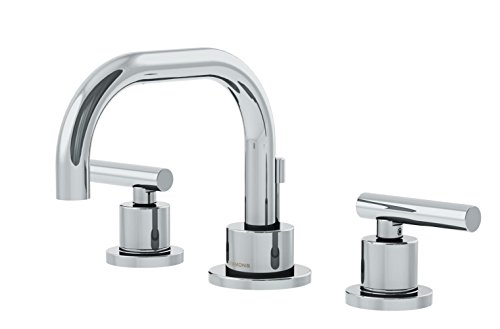 Symmons SLW-3522-1.0 Dia Widespread 2-Handle Bathroom Faucet with Drain Assembly in Polished Chrome (1.0 GPM)