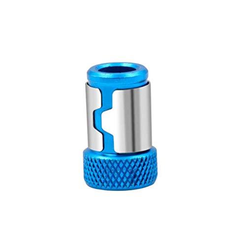 Heinside Seguro Universal Magnetizador Fuerte magnética del Anillo 1/4 Pulgadas de 6,35 mm Puntas de Destornillador Escoja Alta Resistencia (Color : Blue)