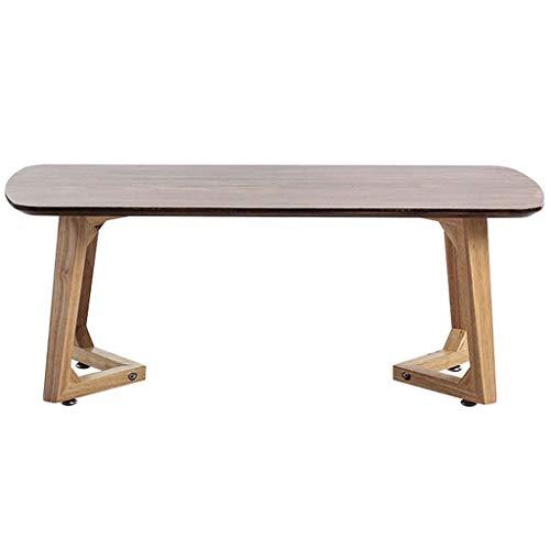 Mesas de centro de madera maciza Tatami Mesa, pequeña, estilo japonés, mesa baja Zen, mesa de té, mesa Kang (color: color negro nogal, tamaño: 70 x 40 x 35 cm)