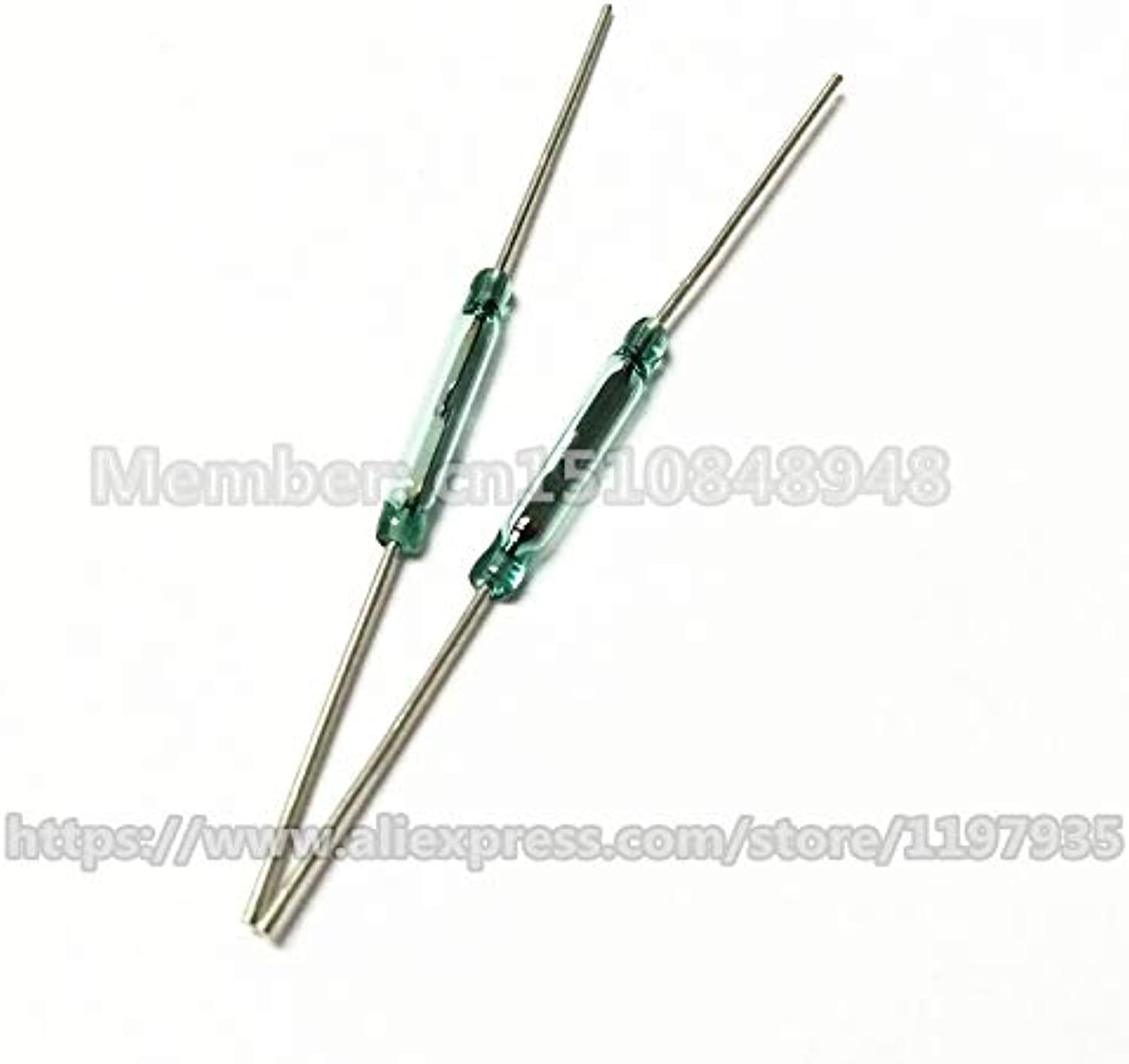 200 PCS Reed Switch 2 pin Magnetic Switch Normally Open 2X14MM