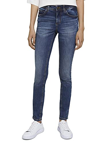 TOM TAILOR Damen 1028220 Alexa Skinny Jeans, 10281-Mid Stone Wash Denim, 31W / 32L