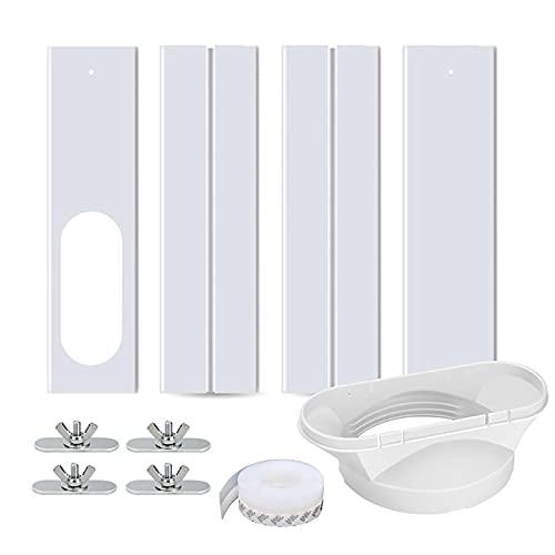 Kit de sellado de ventana con tubo de escape, 4 unidades, placa de sellado ajustable de 43 – 140 cm, adaptador de ventana para climatizadores móviles, aire acondicionado, 13 cm