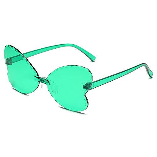 ZYIZEE Gafas de Sol Gafas de Sol de corazón para Mujer Gafas de Sol de Ojo de Gato Coloridas Retro sin Montura Amor en Forma de corazón Gafas de Conductor UV400-G
