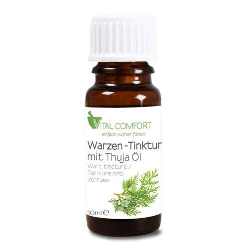 Vital Comfort Warzenmittel Thuja-Öl, Warzen-Tinktur für Warzenentfernung, 10ml
