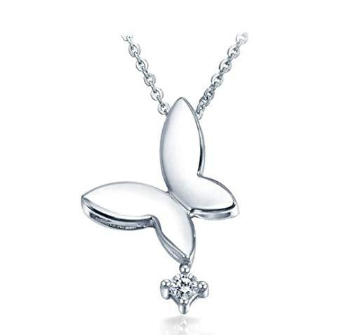 Afamo 925er Sterling Silber Zirkonia Brauthochzeits Halskette mit Schmuckschachtel Besondere Weihnachtsgeschenke für Damen Frauen Mädchen