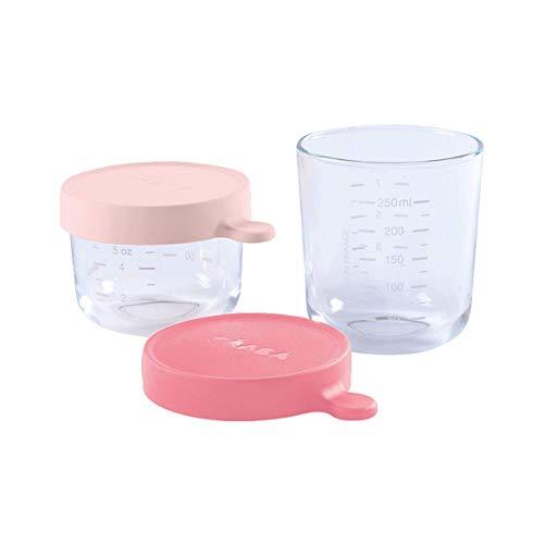 BÉABA Tarros de Conservación para Bebé, Tupper en Cristal, Resistente al calor,...