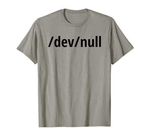 /dev/null Lustiges Schwarzes Design für Linux/Unix Geeks T-Shirt