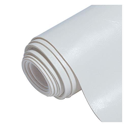 Chunjing Kunstleder Stoff PVC-Stoff Leder , Kunstleder Polsterstoff Öl Wachs Oberfläche , für Sofasitz Home Leather Art - 42# Weiß füR Sofa Auto Sitz MöBel Jacken Handtasche (Size : 1.4x2m)