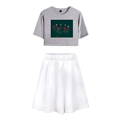 Trainingspak Crop Top T-shirt en Sportrok 2-delige set Gym Outfit-prints Payton Moormeier Sportwear Trainingspak Sweatsuit Voor hardlopen Jogging Yoga Casual A32064TXDQ