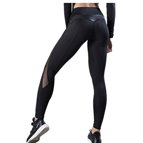 Hhckhxww Pantalones De Yoga con Costura De Malla Pantalones Deportivos De Cintura Alta con Levantamiento De Cadera Pantalones De Mujer