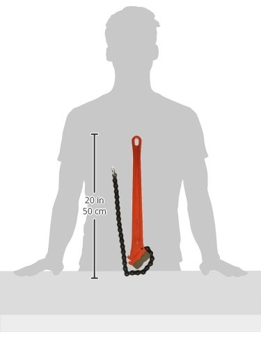 RIDGID 31320 C-18 Heavy-Duty Chain Pipe Wrench, 2-1/2-inch Chain Wrench