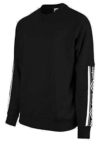 Umbro Unisex Taped Drop Shoulder Sweat Sweatshirt, Schwarz, XL