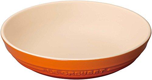 ル・クルーゼ(Le Creuset) 深皿 ラウンド・ディッシュ 20 cm オレンジ 耐熱 耐冷 電子レンジ オーブン 対応 【日本正規販売品】