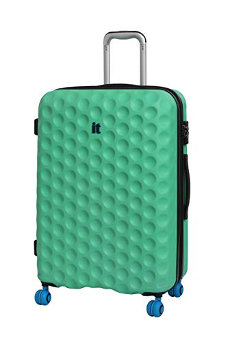 it luggage Bubble-Spin 4 Wheel Hard Shell Single Expander Suitcase Cabin with TSA Lock Maleta, 54 cm, 48 Liters, Verde (Biscay Green)