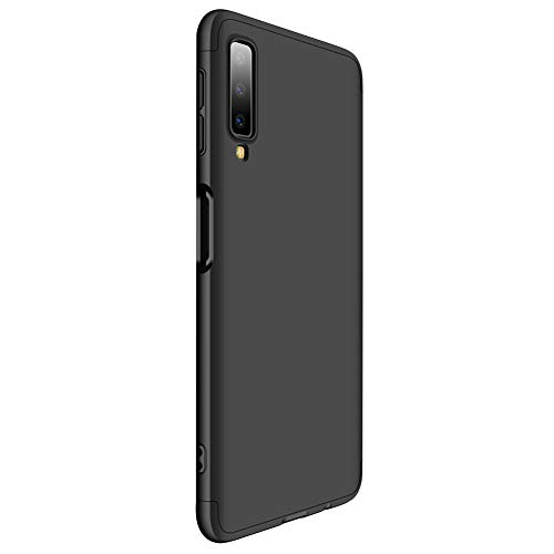 9-evei hoes compatibel met Galaxy A7 2018, mobiele telefoon hoes 3 in 1 ultradunne PC harde hoes 360 graden volledige bescherming beschermhoes tas voor Galaxy A7 2018