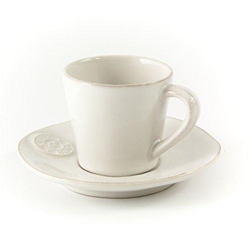 Gedeck/Kaffee/Tee 2-teilig/Ober- und Untertasse Nova, weiß, 0,19l