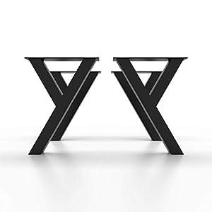 4x Tischbeine, Esstischgestell Tischuntergestell Tischkufen Tischbein Y8080