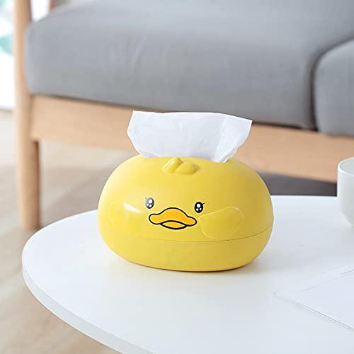 woyada Caja de pañuelos con bonito pato amarillo modelo desmontable útil para coche, sala de estar, baño, decoración de oficina, 19 x 15 x 13 cm