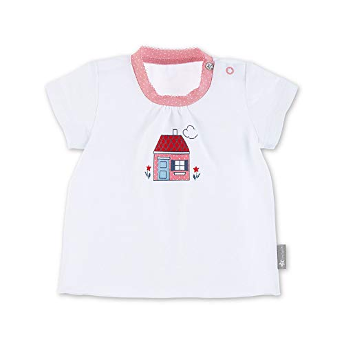 Sterntaler T-Shirt Camiseta, Blanco (Weiss 500), 3-6 Meses (Talla del Fabricante: 56) para Bebés