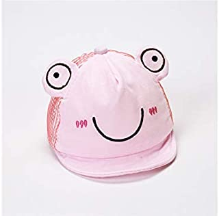 Baby Decoration Hat Baby Frog Sun Protection Mesh Hat Newborn Hat Infant Breathable Cap for 0-6 Months(Blue) Cute Cap (Color : Pink, Size : Head Circumference)
