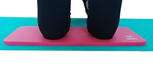 Sargoby Fitness Rodillera de Yoga de 15mm de Grosor Cojín de Pilates para Dolor y Alivio de Rodillas Codos y Muñecas Esterilla de Entrenamiento Pequeño Tapete de Rodilla de Yoga