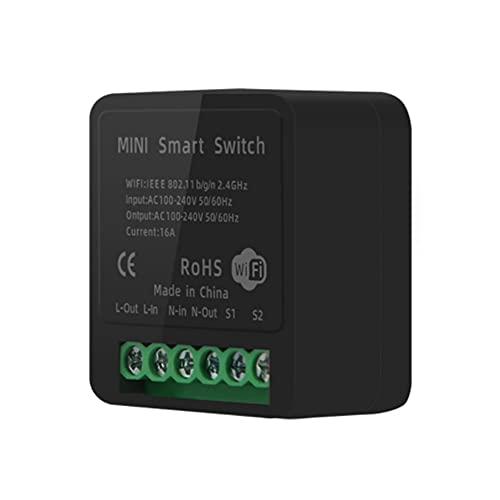 Lightofhope Tuya Dispositivo de Encendido y Apagado Inteligente 16A Wifi Diy Interruptor Inteligente Alexa Control Remoto Inteligente para Usar con Home Alexa