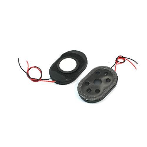 X-DREE 2Pcs 1Watt 8 Ohm 2-Wired Oval Plastic Shell Posición global Sistema Navegador Amplificador de voz Altavoz Altavoz Bocina 30mm x...