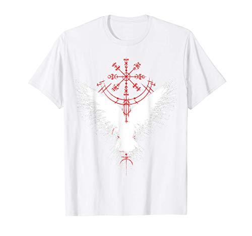 Corbeau D'Odin Avec Vegvisir T-Shirt