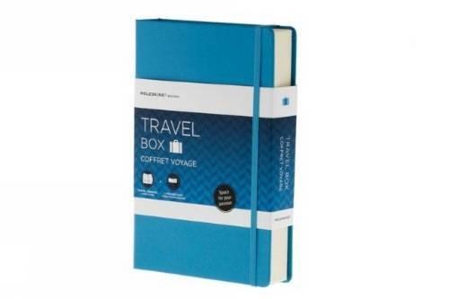 Moleskine GBTRAVEL Geschenkboxen Passion-Reise-Box inkl. Reise-Journal, Gepäckanhänger blau