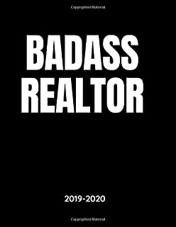 Badass Realtor - 2019 - 2020: Weekly Calendar Planner - 18 Months - Journal Notebook