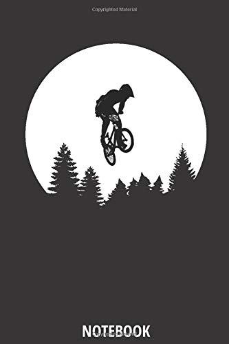 Notebook: Blank Lined Journal for mountain biking and bicycle adventures | Mountain Bikers MTB Notebook for cyclists, men, women and kids who love ... bicycle fans, Rating Rides and Trails