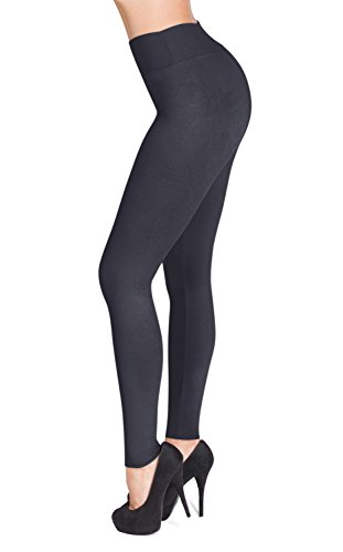 SATINA #1 High Waisted Buttery Soft Leggings | Regular and Plus Size | 22 Colors (Plus Size, Charcoal)