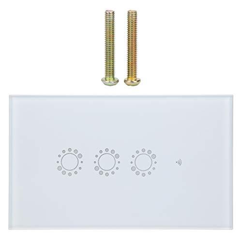 Smart Switch, Smart WiFi Light Switch Funciona con Alexa Echo dot, Google Home, IFTTT Roqi e iOS-Siri, corriente nominal de 10A, certificación de producto CE, FCC y ROHS, EE. UU. AU 95‑240VAC, blanco