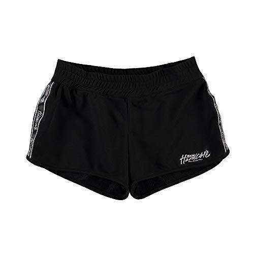 100% Hardcore - Pantalones Cortos para Mujer, Color Blanco y Negro