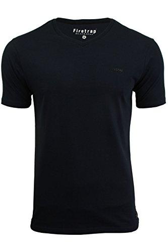 Firetrap Belknap T-Shirt, Blu Navy, S Uomo