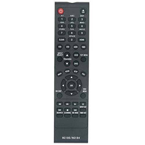 New NC184UH NC184 Replace Remote Control for Sanyo DVD Recorder VCR FWZV475F